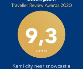 Kemi city near snowcastle